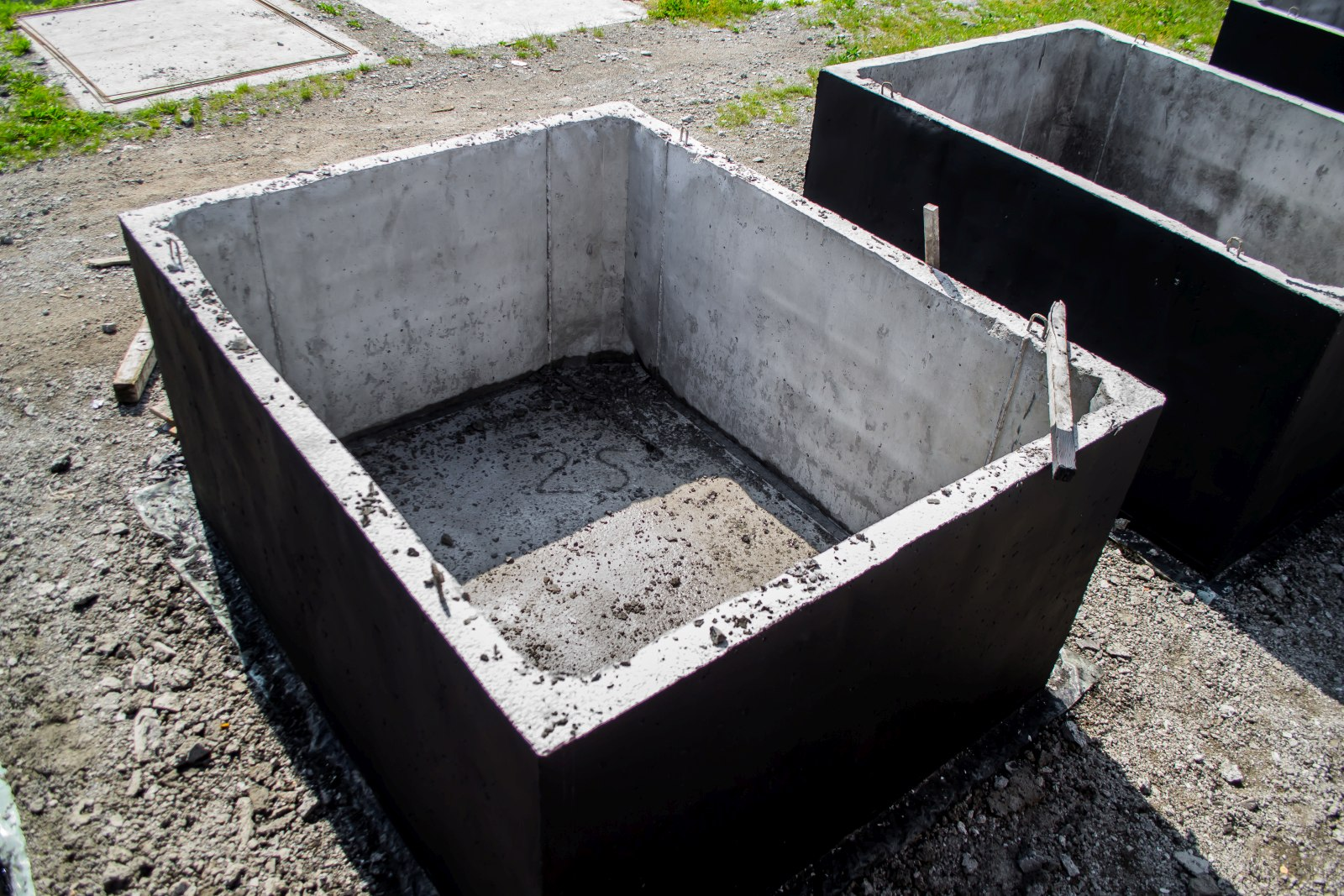 szambo betonowe widok z góry